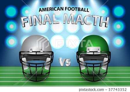 American football final match concept.  37743352