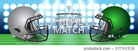American football final match concept.  37743358