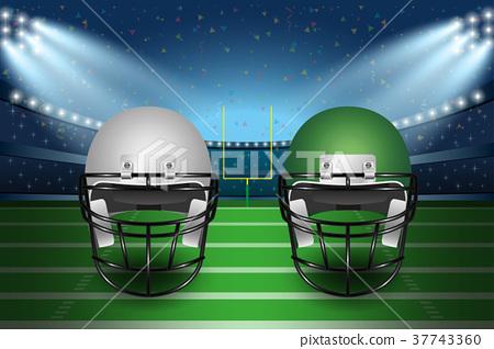 American football final match concept.  37743360
