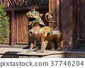 bronze lion in Nepal 37746204