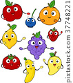 Mascots Fruits Illustration 37748221