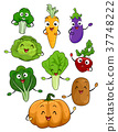 Mascots Vegetables Illustration 37748222