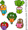 Mascot Vegetables Books Illustration 37748223
