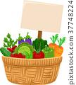Vegetable Harvest Basket Board Illustration 37748224