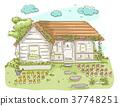 Cottage Flower Garden Illustration 37748251