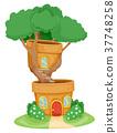 House Bonsai Plant Illustration 37748258