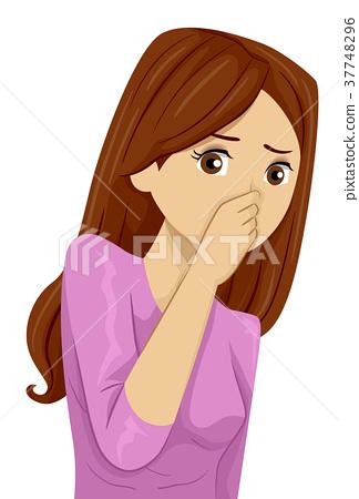 Teen Girl Bad Odor Pinch Nose 37748296