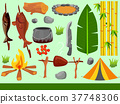 Forest Camp Elements Illustration 37748306