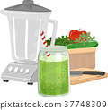 Green Smoothie Blender Illustration 37748309