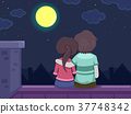 Stickman Couple Roof 37748342