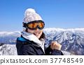겔렌데, 스키장, 여성 37748549