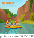 River Rafting Outdoor Composition 37753899