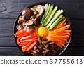 Korean healthy food Bibimbap 37755643