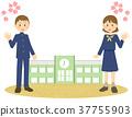 นักเรียนมัธยมปลาย,มัธยมปลาย,ดอกซากุระบาน 37755903