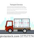 Small Truck Transports Windows on the Road 37757774