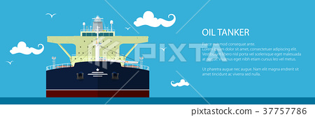 Banner with Oil Tanker 37757786