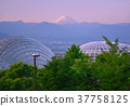 Fruit park dome and morning sun Fuji-777 550 37758125