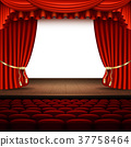 stage, curtain, auditorium 37758464