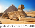 Sphinx and pyramid 37758488
