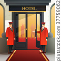 hotel, composition, door 37759062