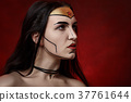 serious wonderwoman portrait 37761644