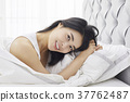 기상, 미소, 젊은여자 37762487