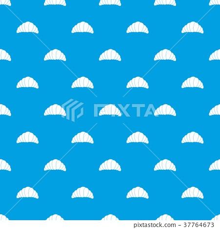 Croissant pattern seamless blue 37764673