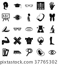 Anatomy icons set, simple style 37765302