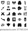 Dissection icons set, simple style 37765334