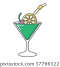 cocktail, icon, vector 37766322