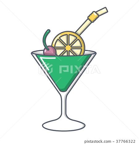 Cocktail icon, cartoon style 37766322