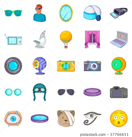 Visibility icons set, cartoon style 37766651