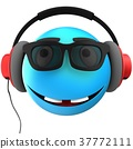 3d blue emoticon smile 37772111