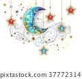 golden crescent moon 37772314