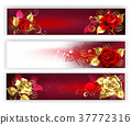Horizontal banners with jewelry roses 37772316