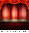 stage, curtain, spotlight 37773098