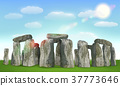 stonehenge english landmark on field with sky 37773646