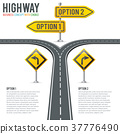 road, signpost, infographic 37776490
