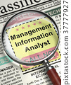 We're Hiring Management Information Analyst. 3D. 37777927