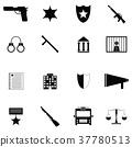 police icon set 37780513