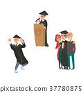 vector flat graduates character scenes set 37780875