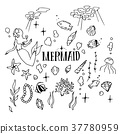 Mermaid Illustration pack 37780959