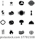 steak icon set 37781508