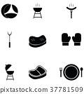 steak icon set 37781509