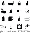 washing icon set 37781740