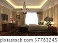 Bedroom interior 3d illustration 37783245