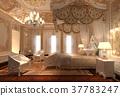 Bedroom interior 3d illustration 37783247