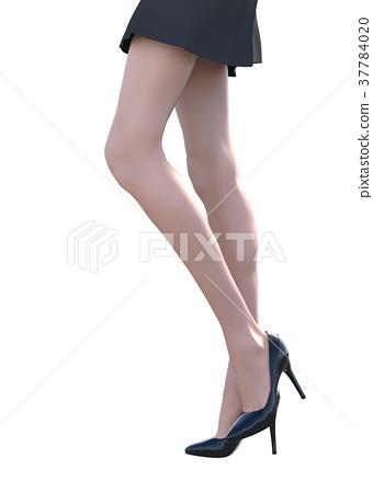 放养图片女性的腿perming3DCG插图素材 37784020