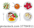 breakfast, omelette, omelet 37784911