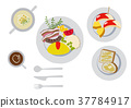 Breakfast clip art. Omelette. food. 37784917